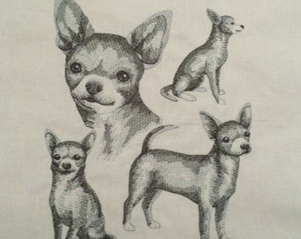 Short-Haired Chihuahua ~ Dog Sketch Quilt Block