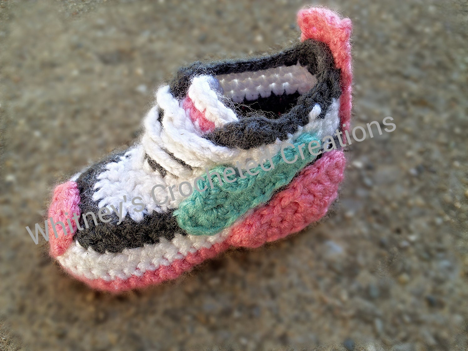 Crochet Pattern Baby Tennis Shoes : Nike Inspired tennis shoes Crochet pattern by ...