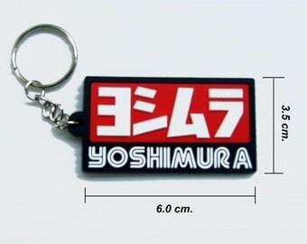 Yoshimura Rubber Keyring Keychain Red Black.