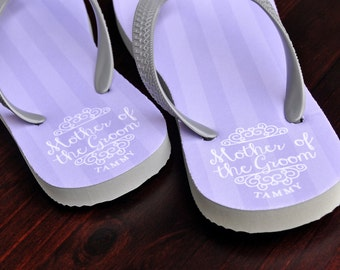 Personalized Flip Flops, Mother of the Groom, Custom Wedding Flip Flops, Wedding Flip Flop, Flip Flops, Personalized Name Sandals, 117FF