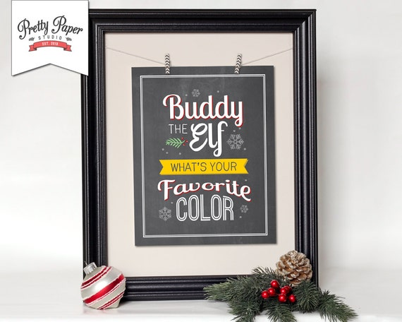 Christmas Grinch Quote 8 X 10 Digital Print Instant By: Buddy The Elf Christmas Wall Art // INSTANT DOWNLOAD