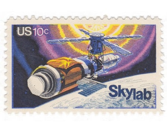 10 Unused US Vintage Postage Stamps - 1974 10c Skylab - Item No. 1529