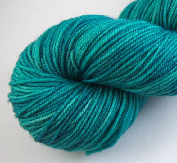 Squash Blossom Hand Dyed Sport Weight Yarn by JanuaryYarns
