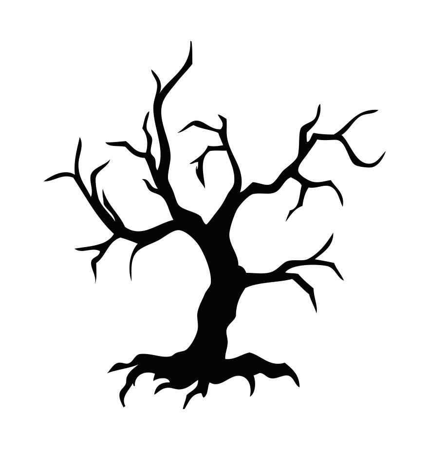 scary halloween tree coloring pages - photo#23