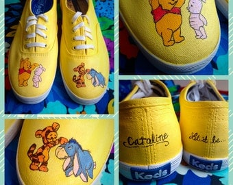 Custom made Winnie the Pooh Keds. Designed and personalized just for you!