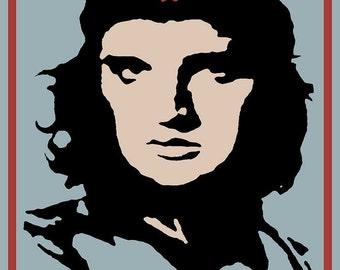 Elvis Che Guevara Viva Las Vegas - Giclee Print
