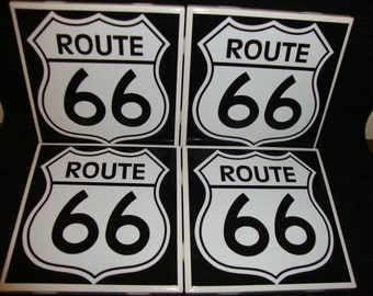 Route 66 Coasters (set of 4)