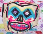 Vintage Colorful Skull Halloween Mask, Cloth