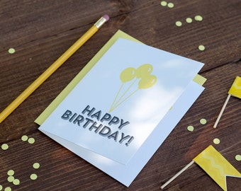 Happy Birthday! Letterpress Greeting Card