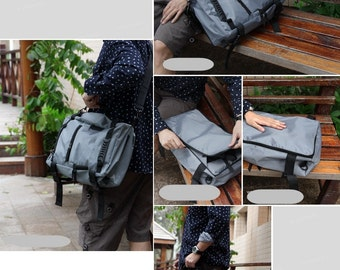 Backpack Gray Color 3 Ways style Men's Travel/School/Collage Backpack