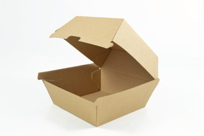 RETRO BURGER BOX Set Of 5 Boxes Kraft Retro By Lightandco