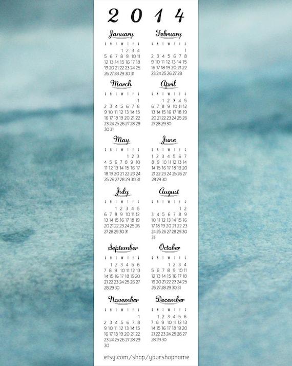 Calendar Bookmark : Items similar to bookmark calendar template quot