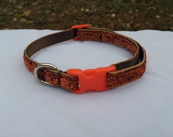Glittery Orange Collar