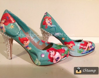 The Little Mermaid Ariel heels with Pearls