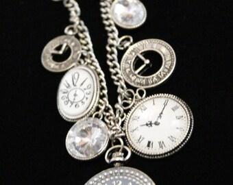 Adorable Clock time charm bracelet   BX8-BC-007