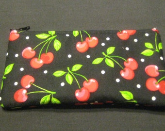 Cherries Pencil Case / Zipper Pouch, Coin Purse, Wristlet, or Cosmetic Bag #5