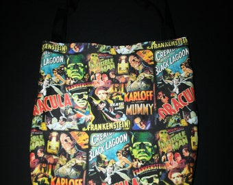 Classic Horror Movie Monsters Tote Bag