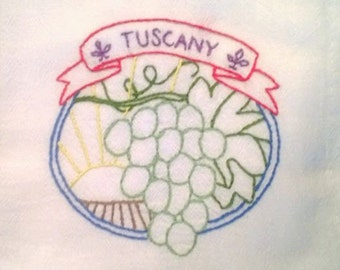 Wine Country pattern Tuscany Free Shipping