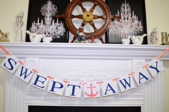 Swept Away Wedding Bridal Shower Engagement Banner