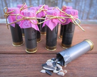 Shotgun Shell Pack of 10 Bird Seed or Confetti Holder for Weddings