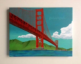Golden Gate (11x14 Original Acrylic Painting)