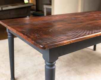 Handmade Rustic Dining Table | Farm Kitchen Table