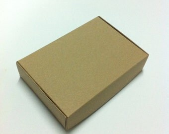 Kraft Boxes - 10 Rectangle, Brown Kraft boxes - Gift Boxes - Favor Boxes - 6.5 x 4.5 x 1.5 inches