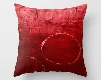 Modern Red Pillow : Red throw pillow Etsy