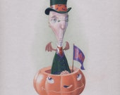 Mr Wobbles, greeting card art from Spookhaven, the unofficial capitol of Halloween