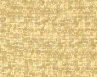 Dear Stella Net in Mustard- Stella 370 Mustard yellow crosshatch blender fabric- 1 yard