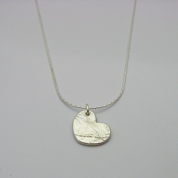fingerprint jewelry silver necklace by
