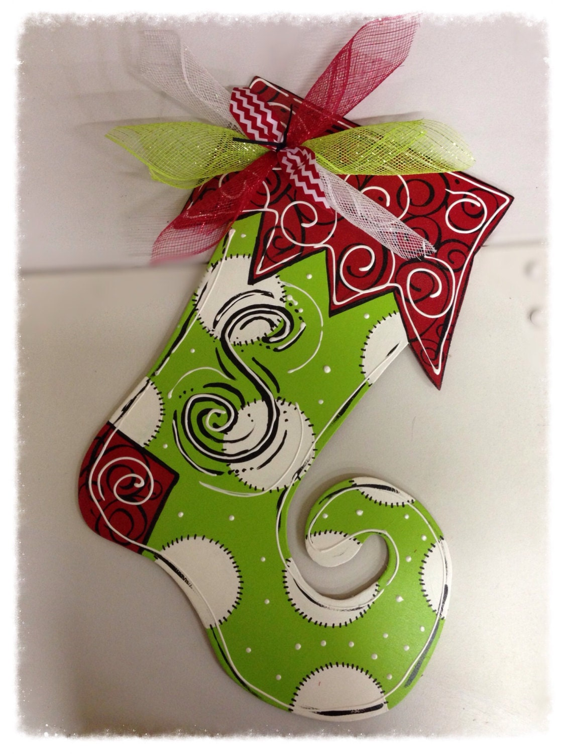 Stocking door hanger christmas