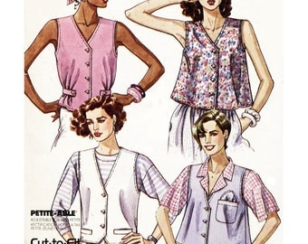 McCall's Sewing Pattern 4293 Misses' Unlined Vests   Size:  B  8-10-12  Uncut