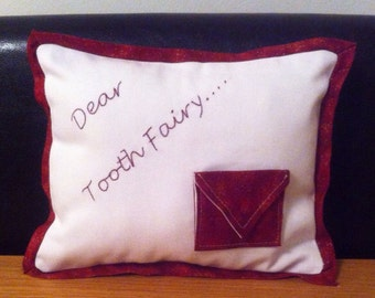 Mini Toothfairy pillow with pocket