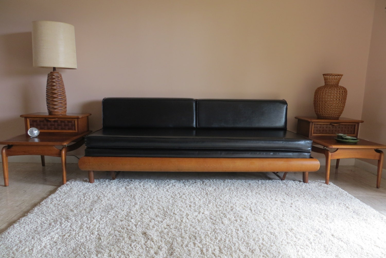 Reserved mid century modern danish style sofa couch daybed for Mid century modern day bed