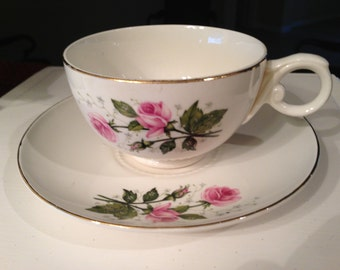 Hall Heather Rose Cup and Saucer