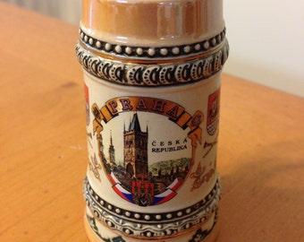 Vintage Souvenir Praha - Prague Czech Republic Miniature Stein