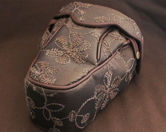 DSLR Camera Bag Case  : Maroon Flower Embroidary