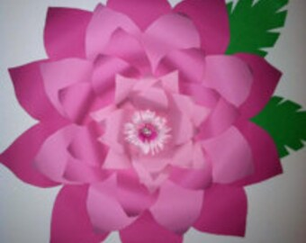 "Giant Paper Wall Flower - ""Think Pink"""