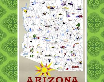 Arizona Travel Poster Wall Decor (7 print sizes available)
