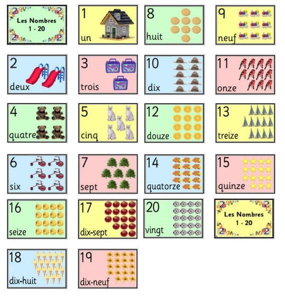 les nombres 1 20 nombres pinterest french worksheets. Black Bedroom Furniture Sets. Home Design Ideas