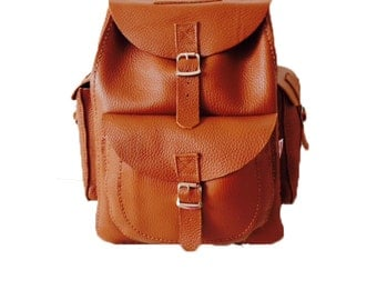 Leather Rucksack Leather Backpack Backpack Rucksack Brown Rucksack
