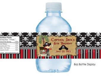 Pirate Water Bottle Labels DIY Printable