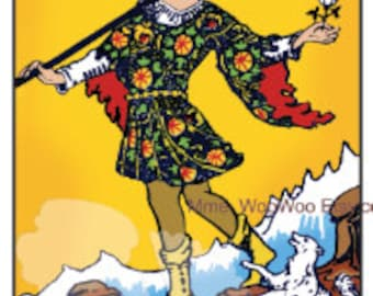 The Fool Tarot Card - Instant Download PDF file