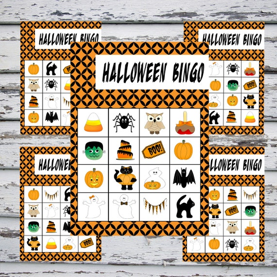 Printable Halloween Bingo Instant Download 20 Bingo Cards