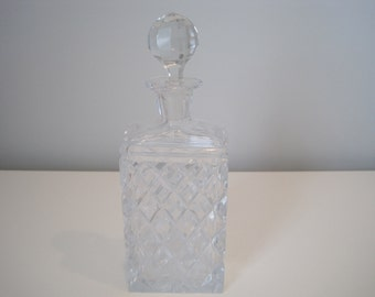 Vintage Etched Glass Decanter