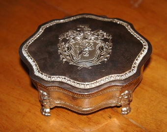 Vintage Silverplate Jewelry Box