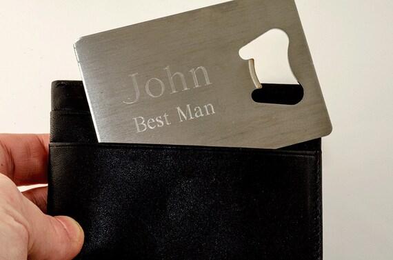 Wedding Gift Credit Card : ... Credit CardWedding Party GiftBest Man GiftGroomsman Gift