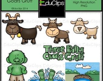 Three Billy Goats Gruff Clip Art Bundle