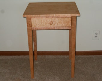 Curly maple nightstand